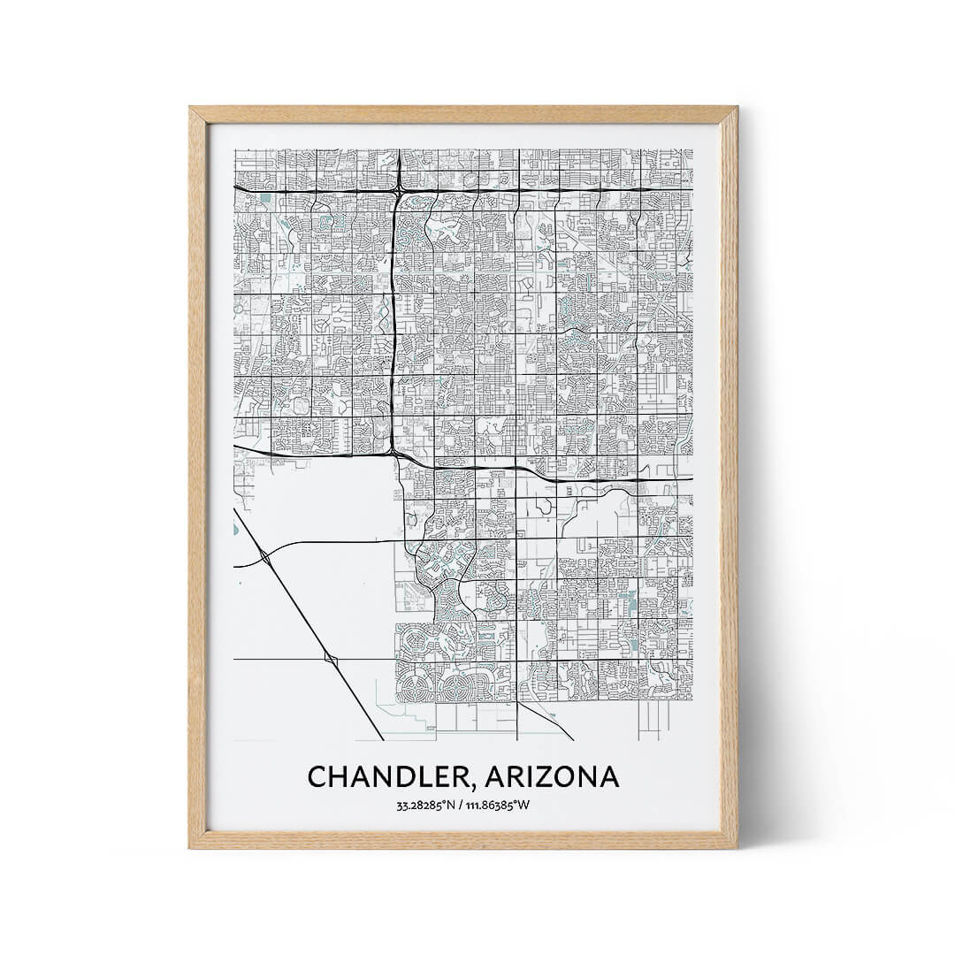Chandler city map poster