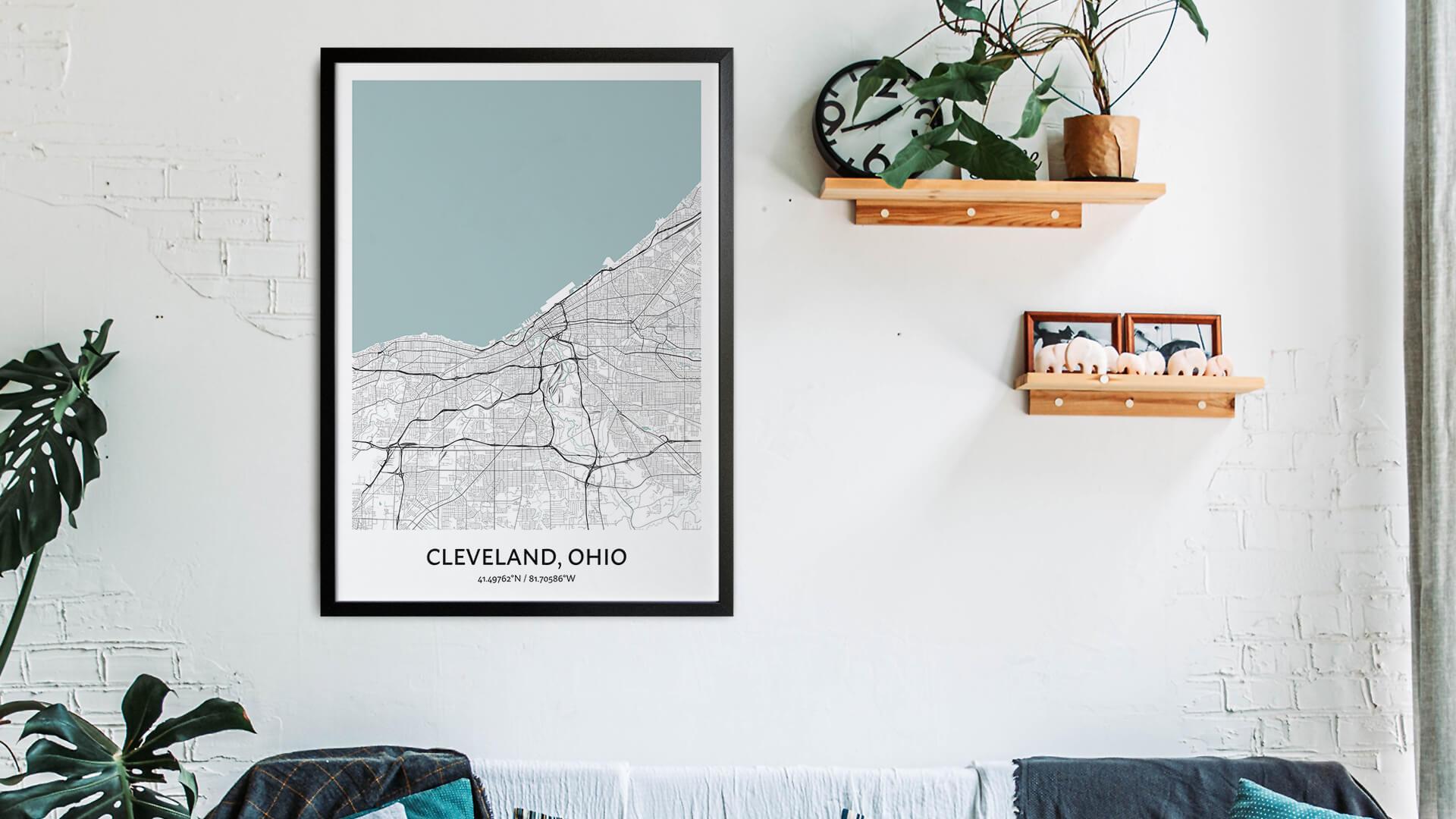 Cleveland map art