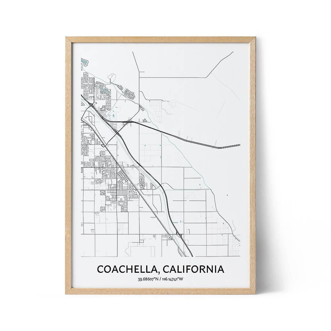 Coachella city map poster