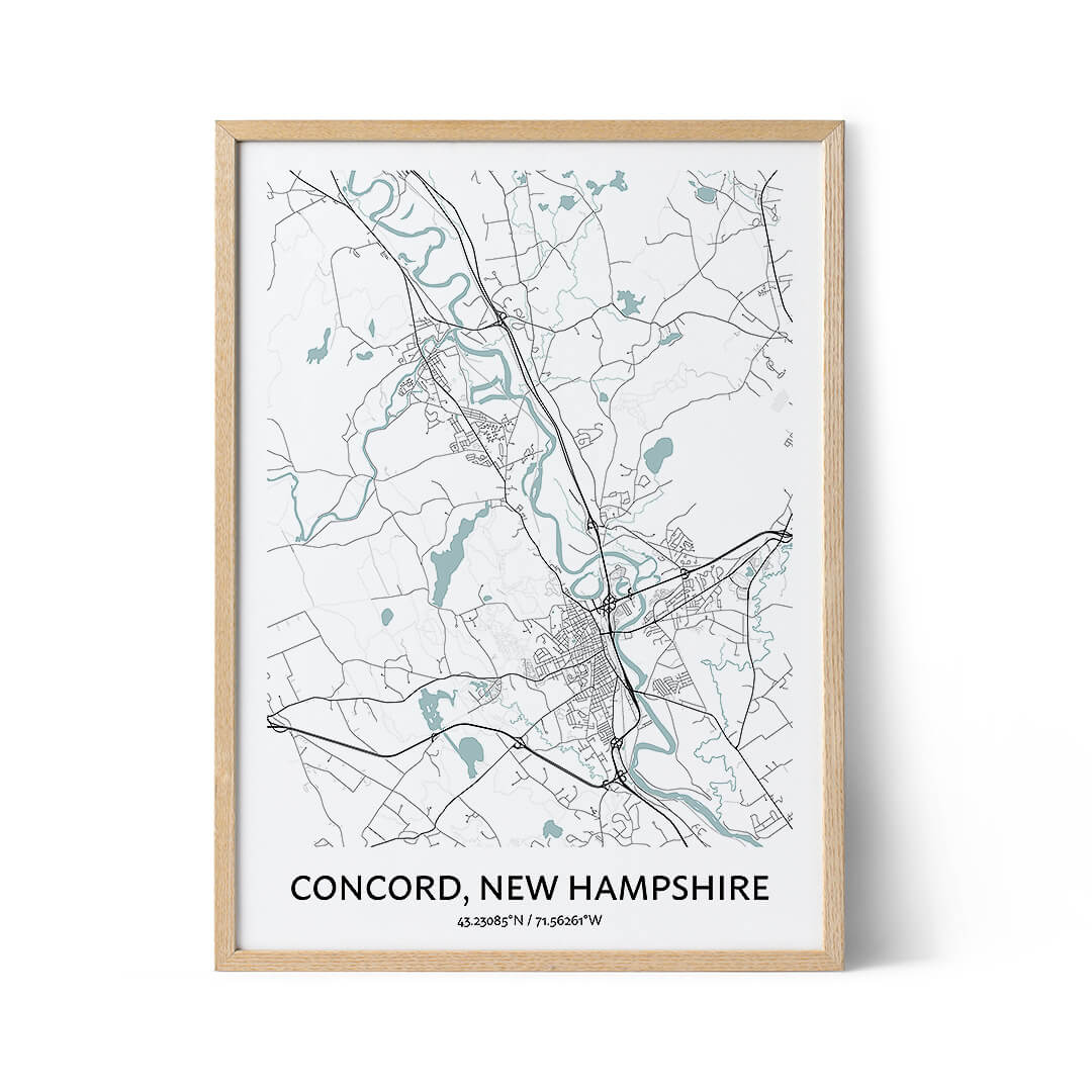 Concord city map poster