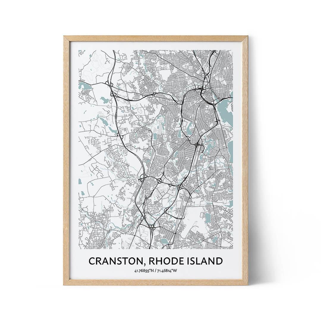 Cranston city map poster
