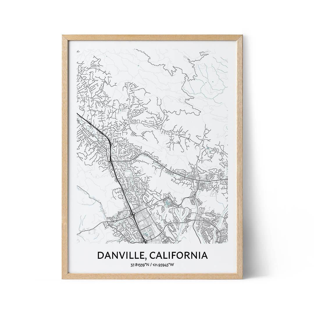Danville city map poster