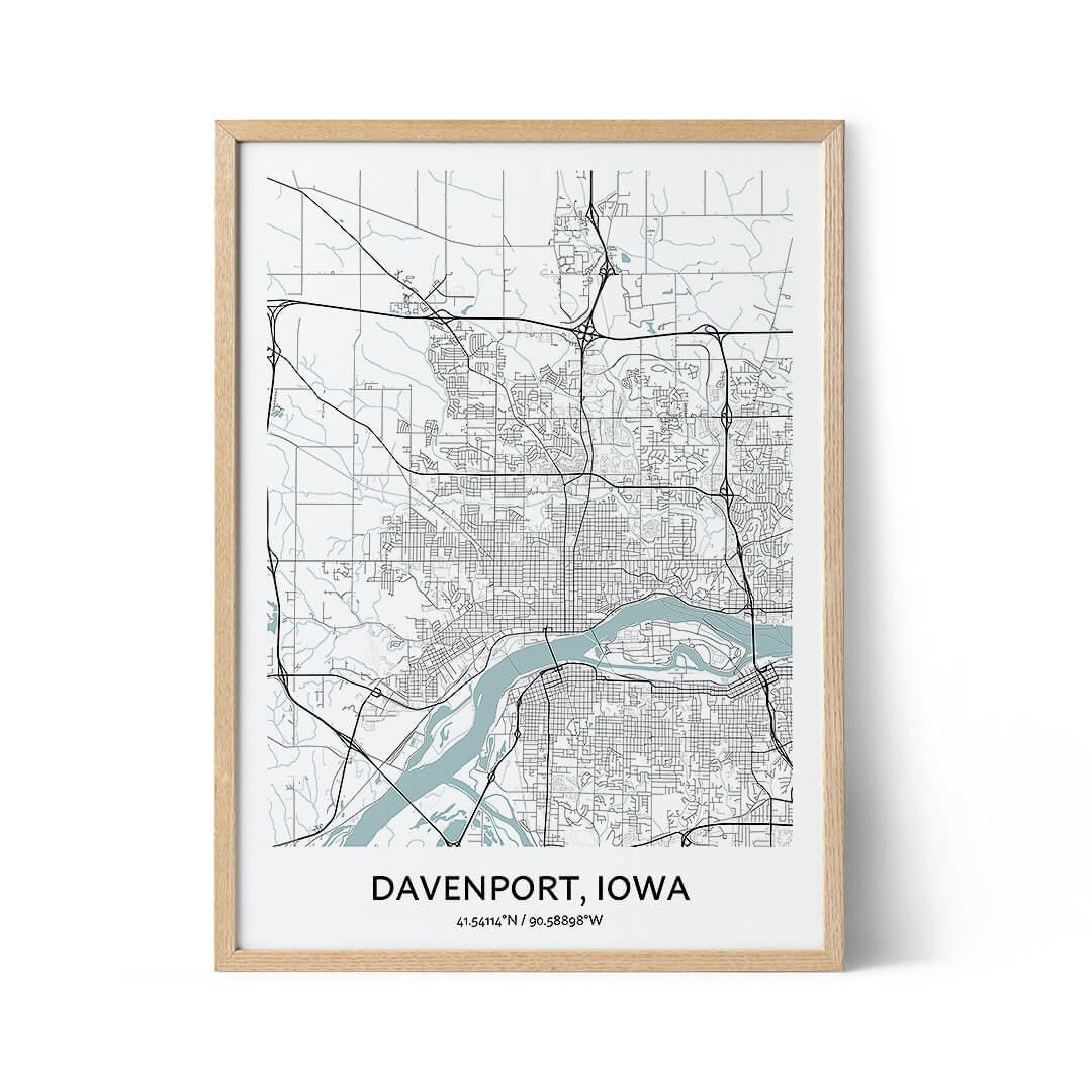 Davenport city map poster