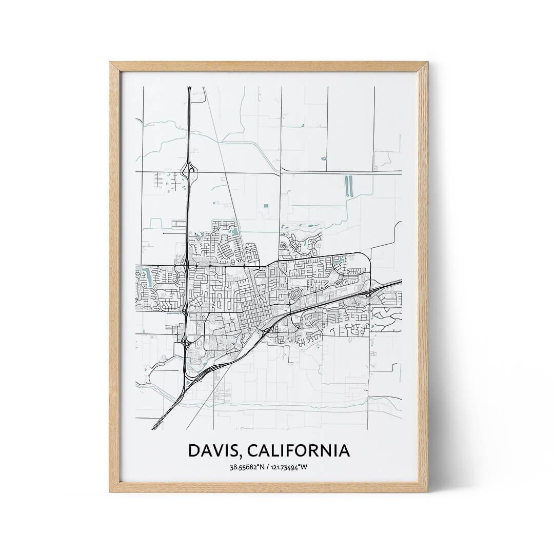 Davis city map poster