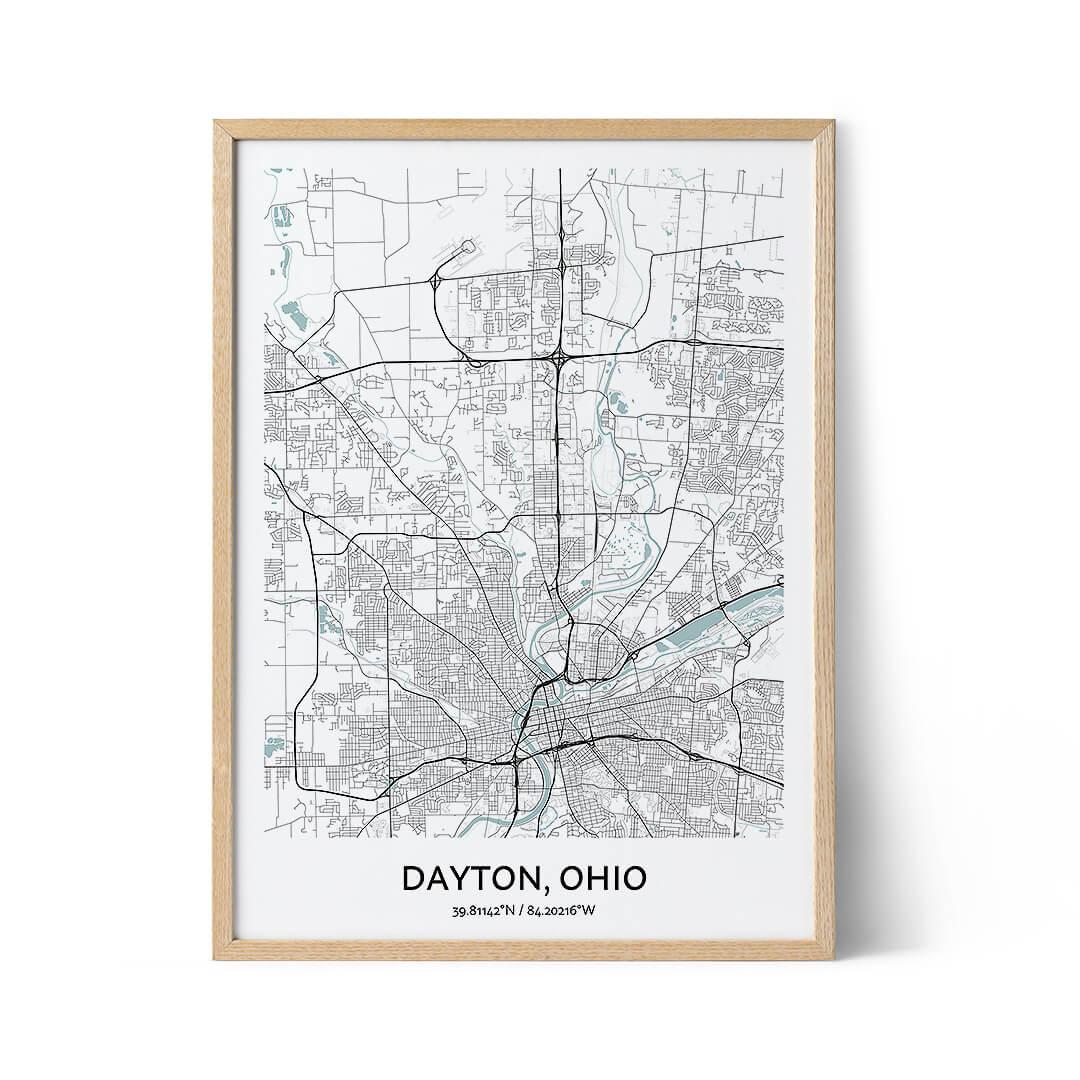 Dayton city map poster
