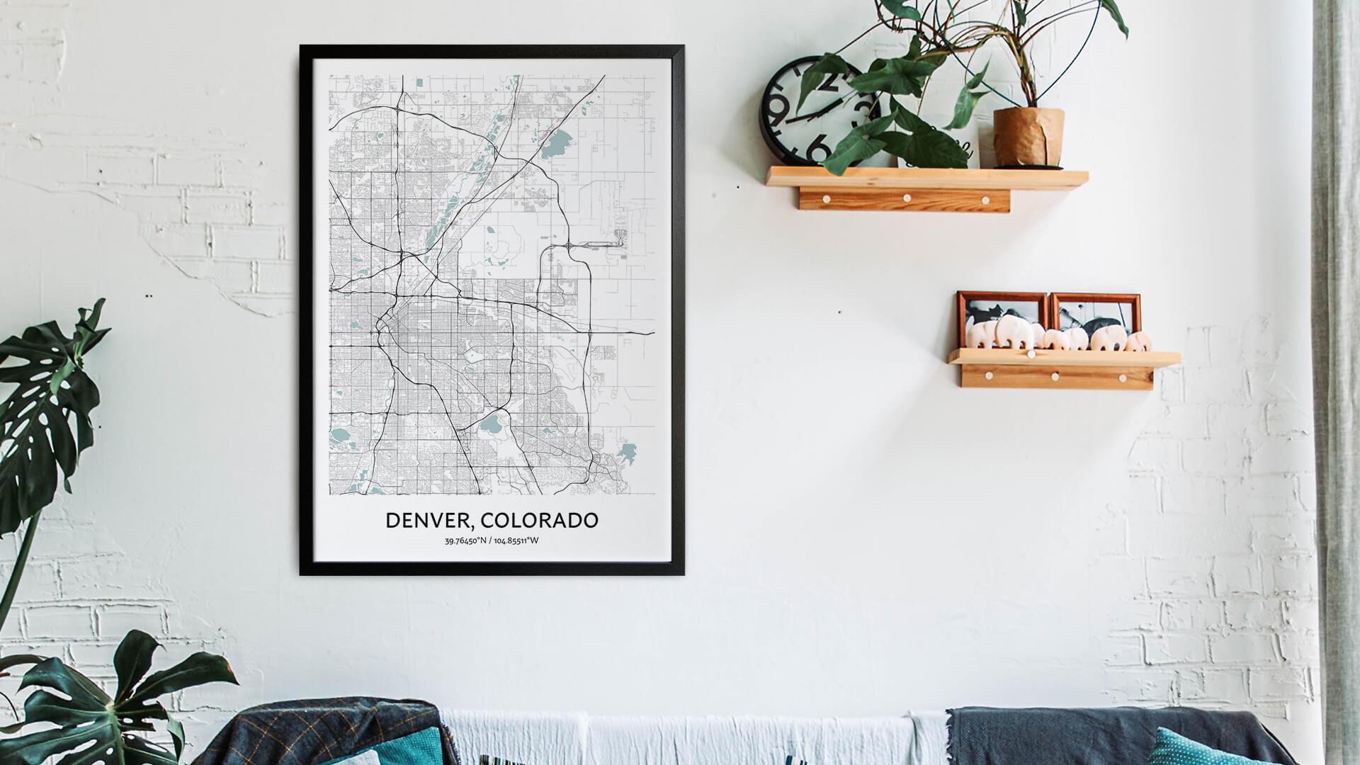 Denver map art