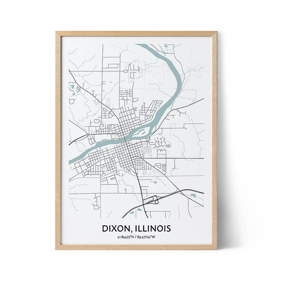 Dixon city map poster