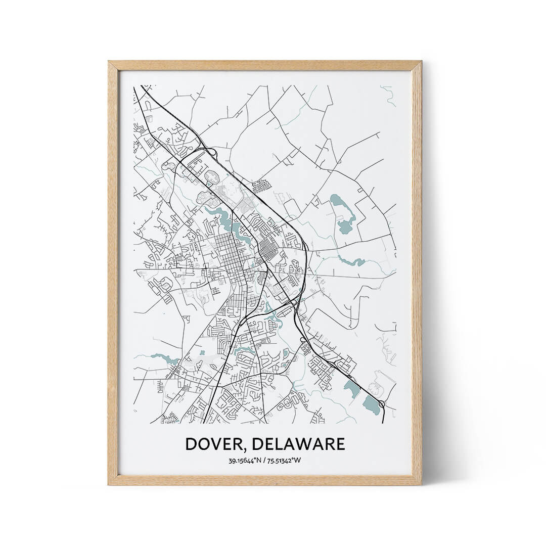 Dover city map poster