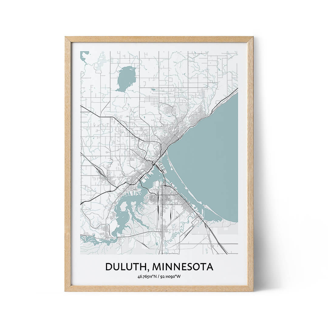 Duluth city map poster