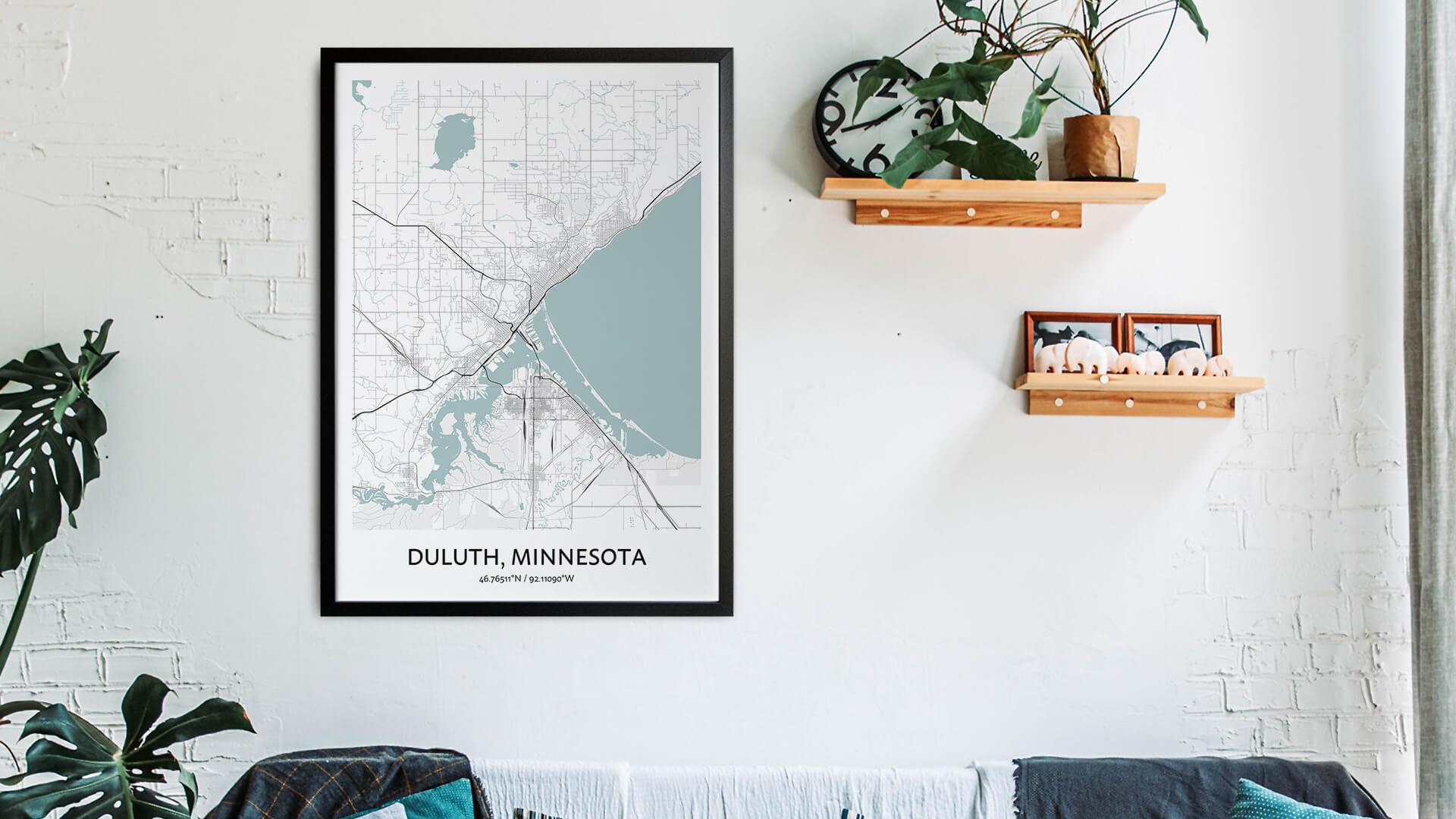 Duluth map art