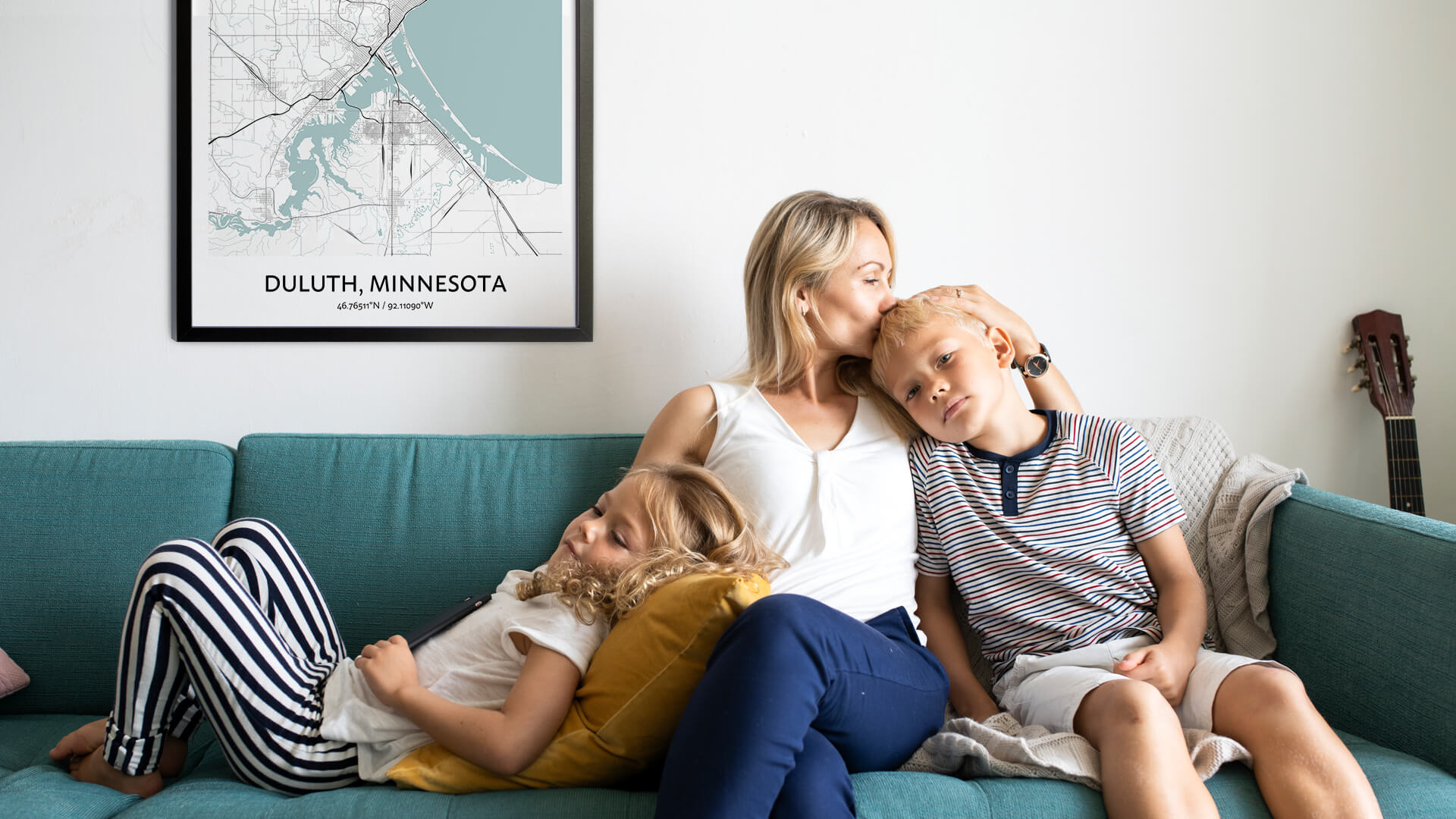 Duluth map poster