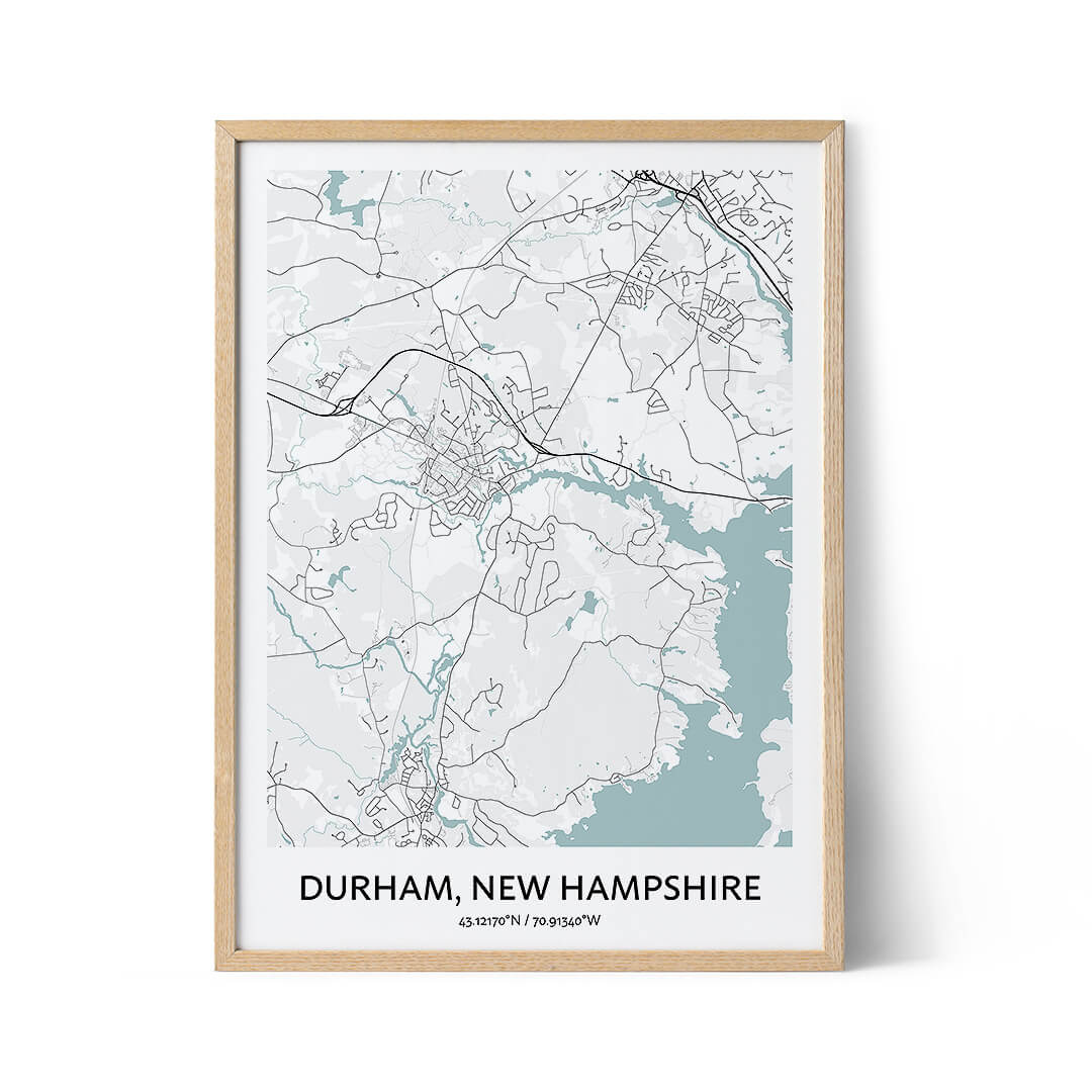 Durham New Hampshire city map poster