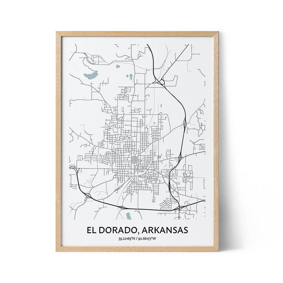 El Dorado city map poster