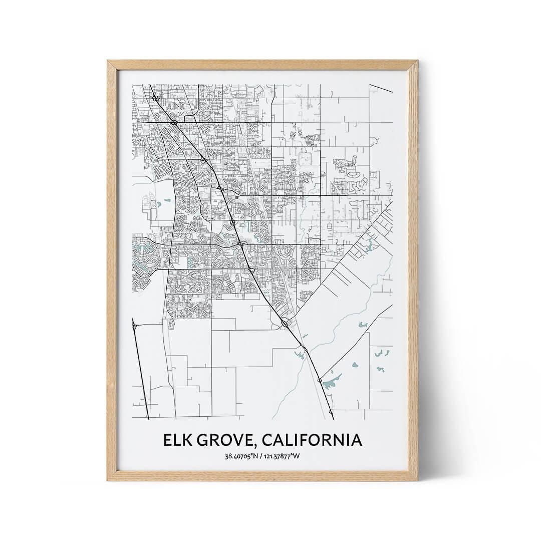 Elk Grove city map poster