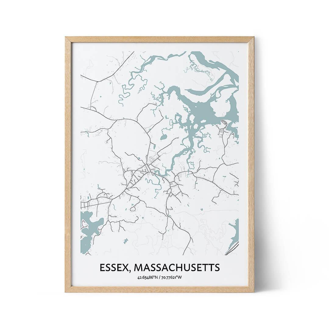 Essex city map poster