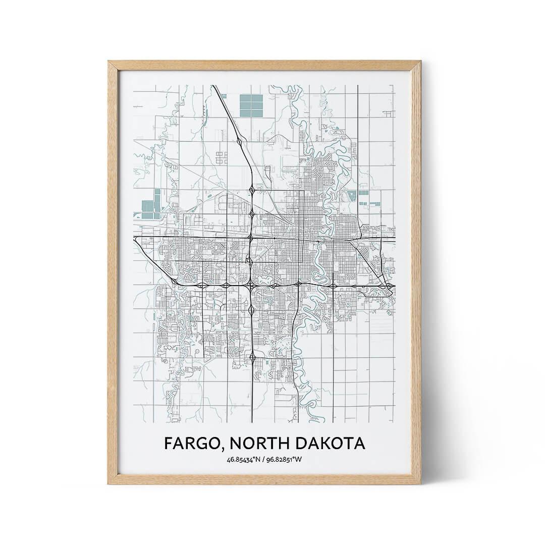 Fargo city map poster