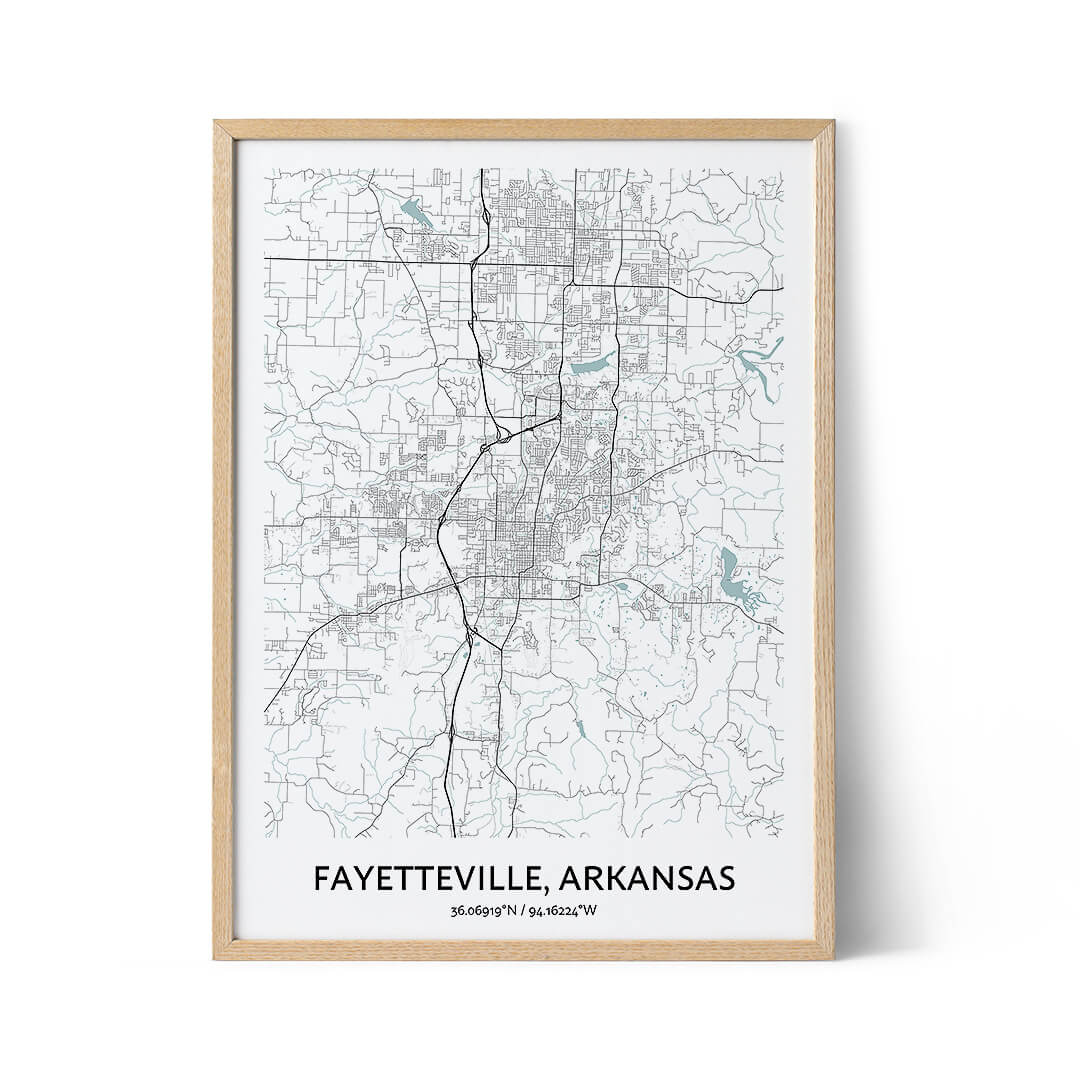 Fayetteville city map poster