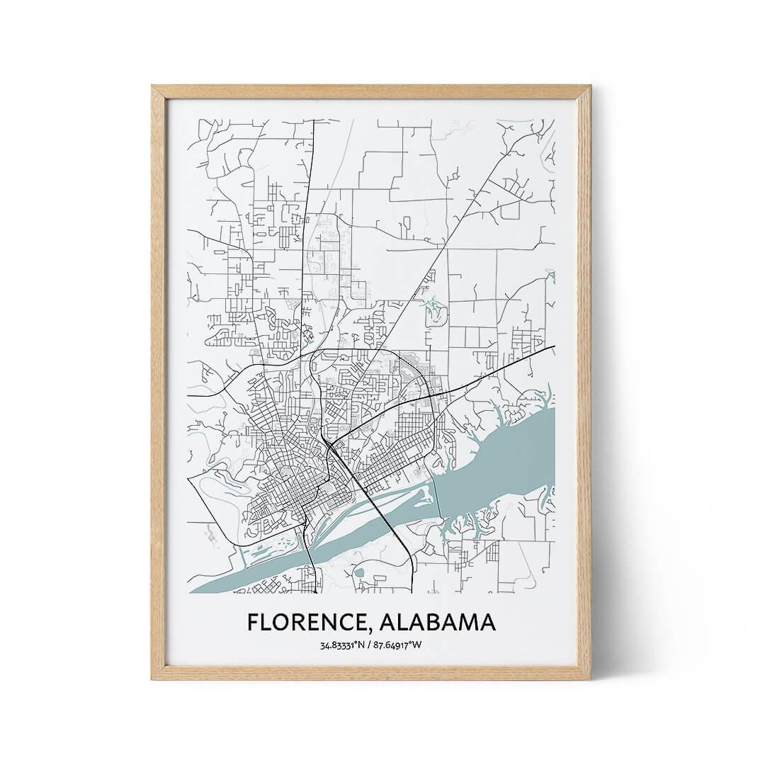 Florence Alabama city map poster