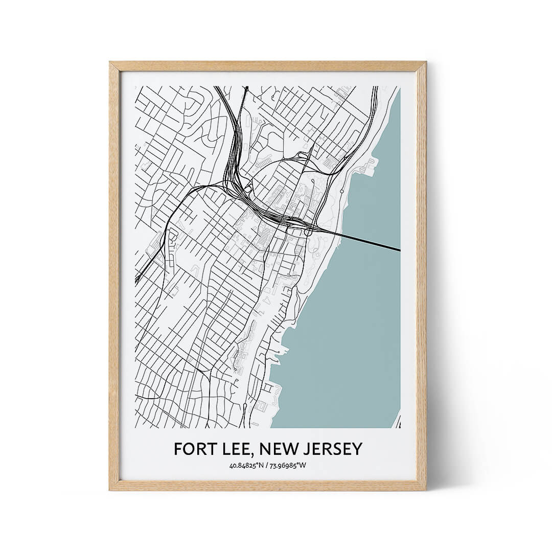 Fort Lee city map poster