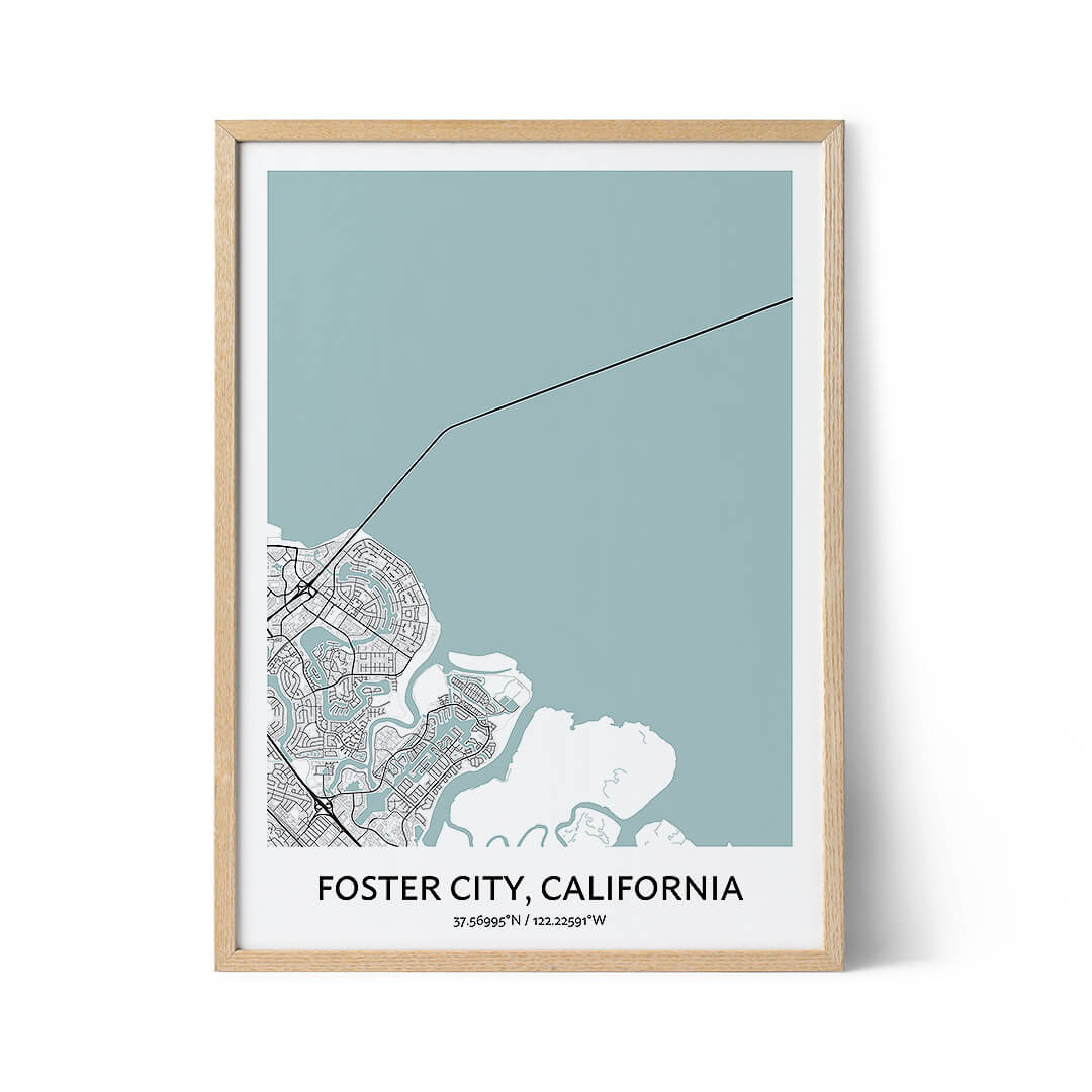 Foster City city map poster