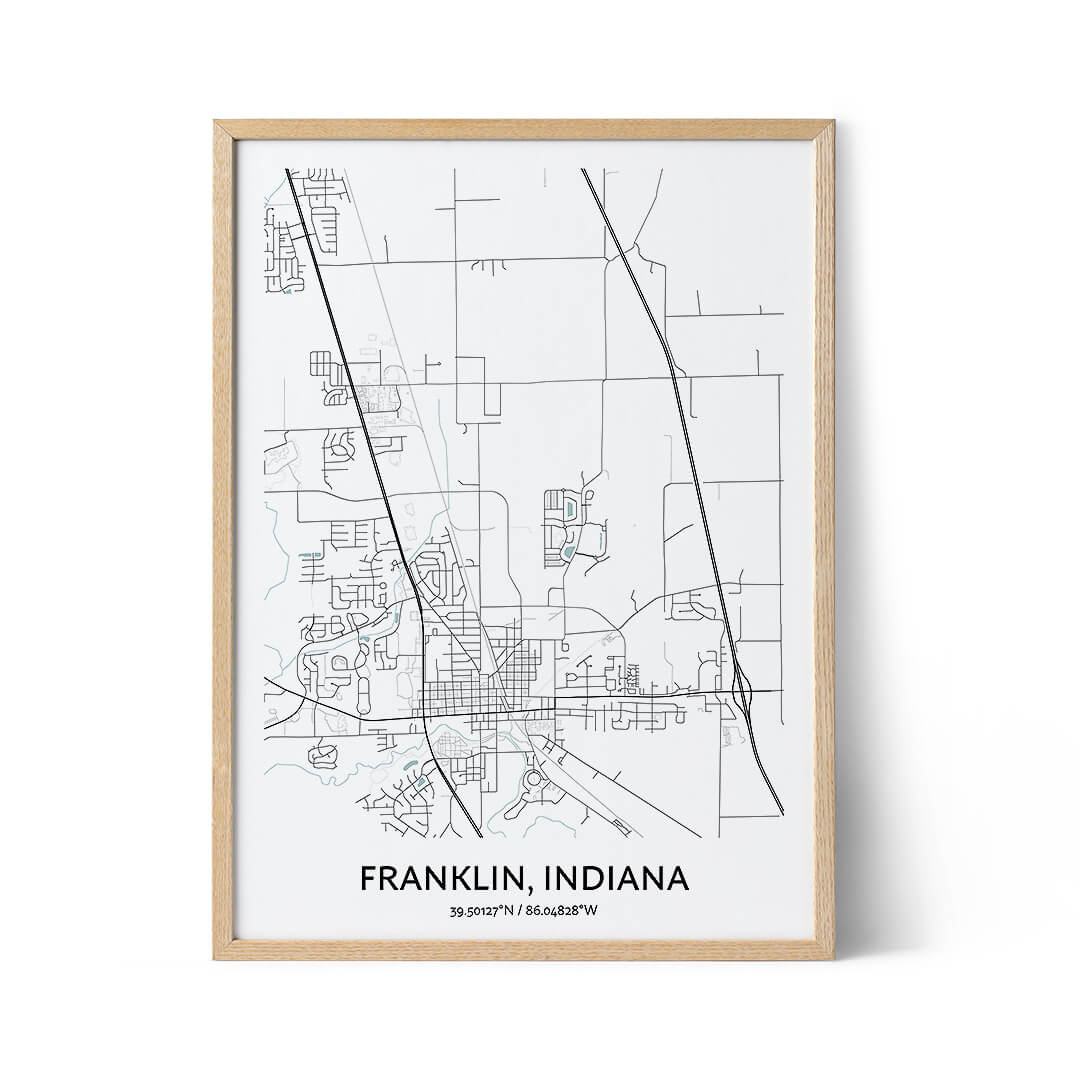 Franklin city map poster