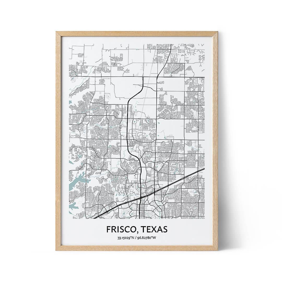 Frisco city map poster