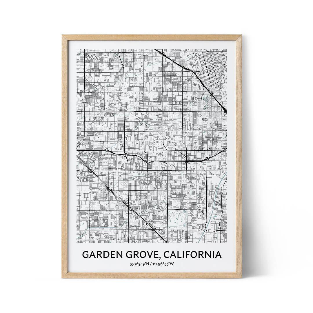 Garden Grove city map poster