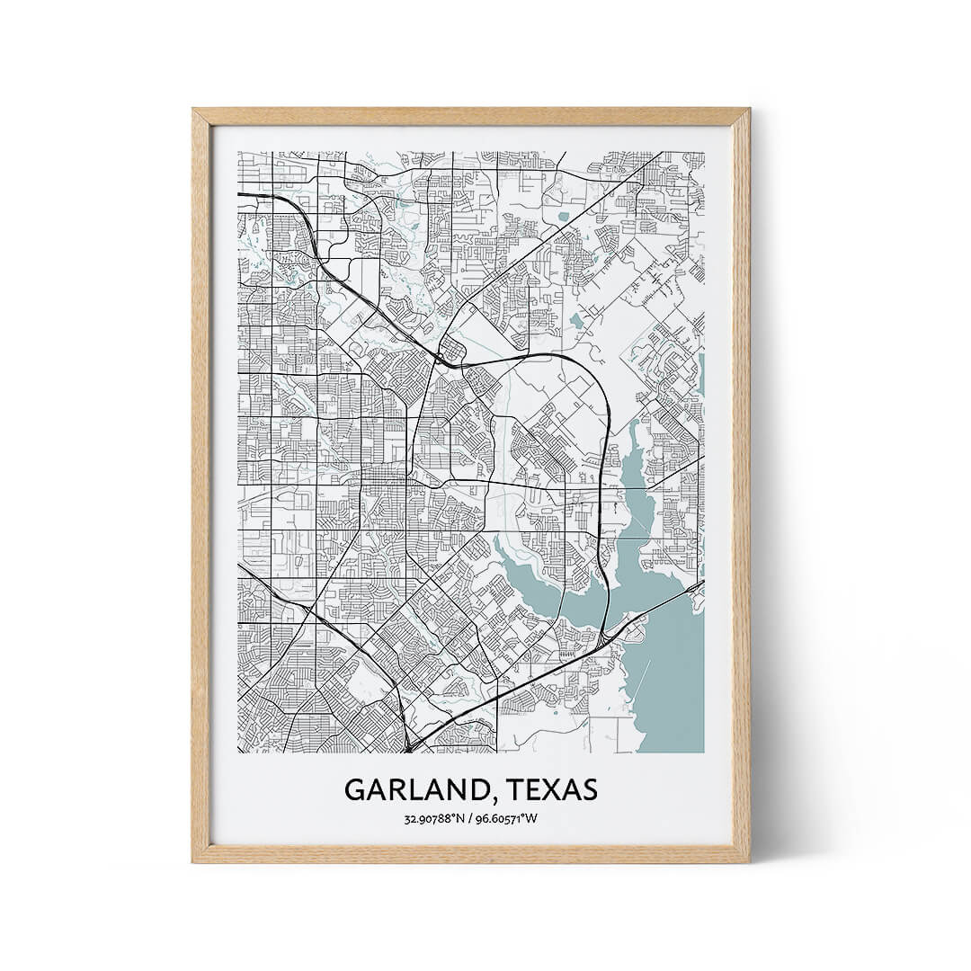Garland city map poster