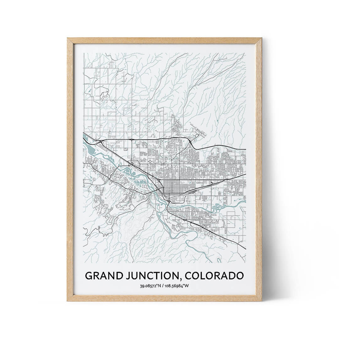 Grand Junction city map poster