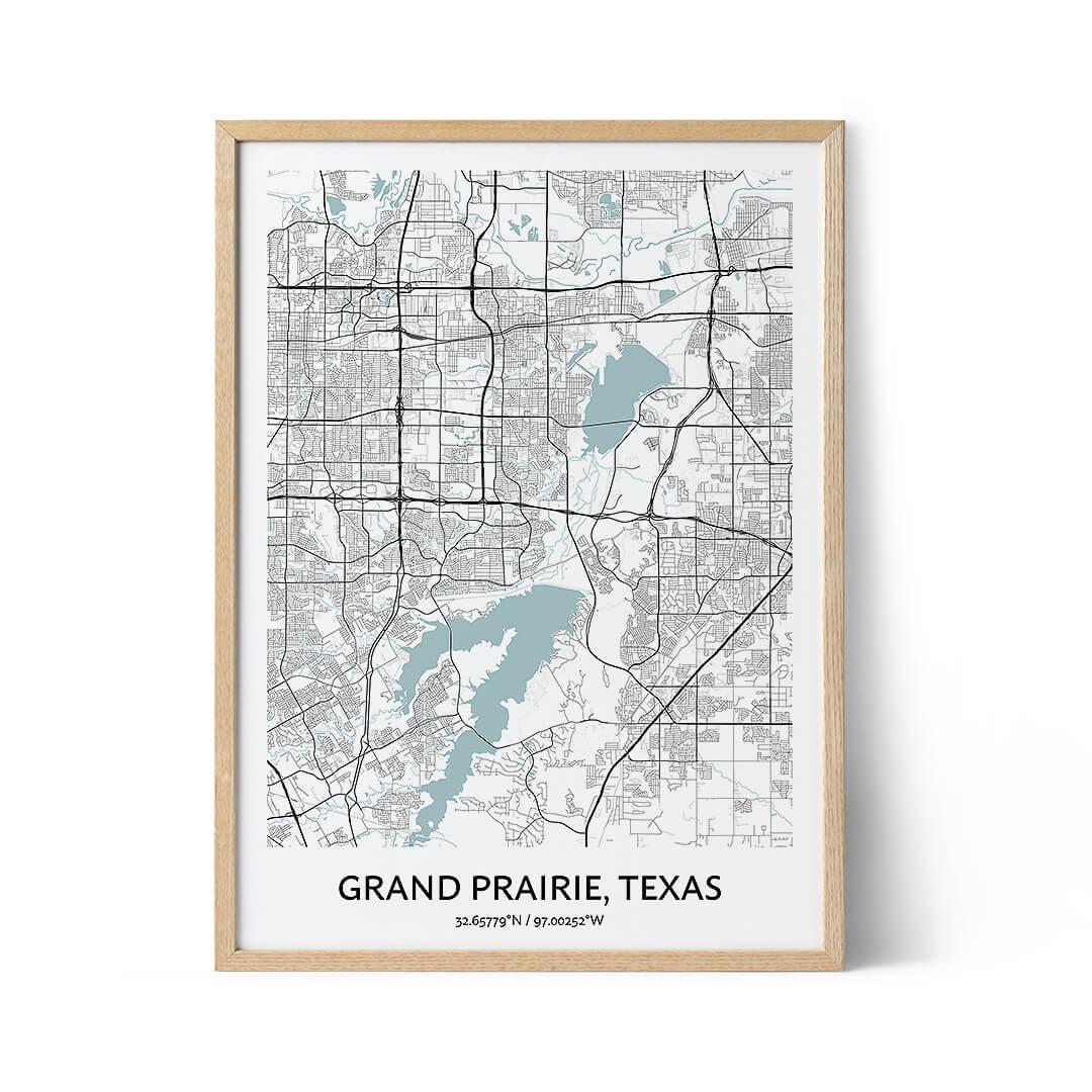 Grand Prairie city map poster