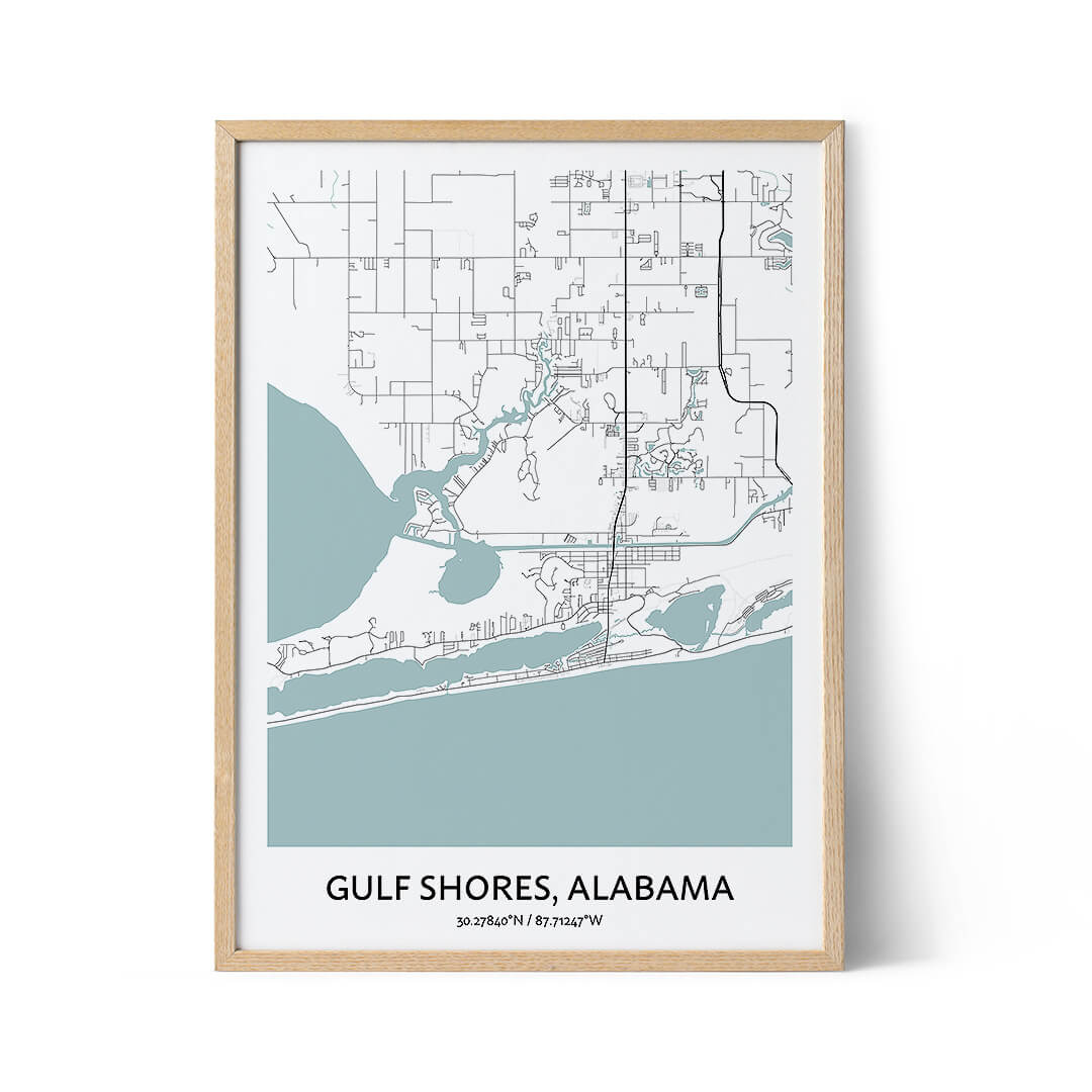 Gulf Shores city map poster