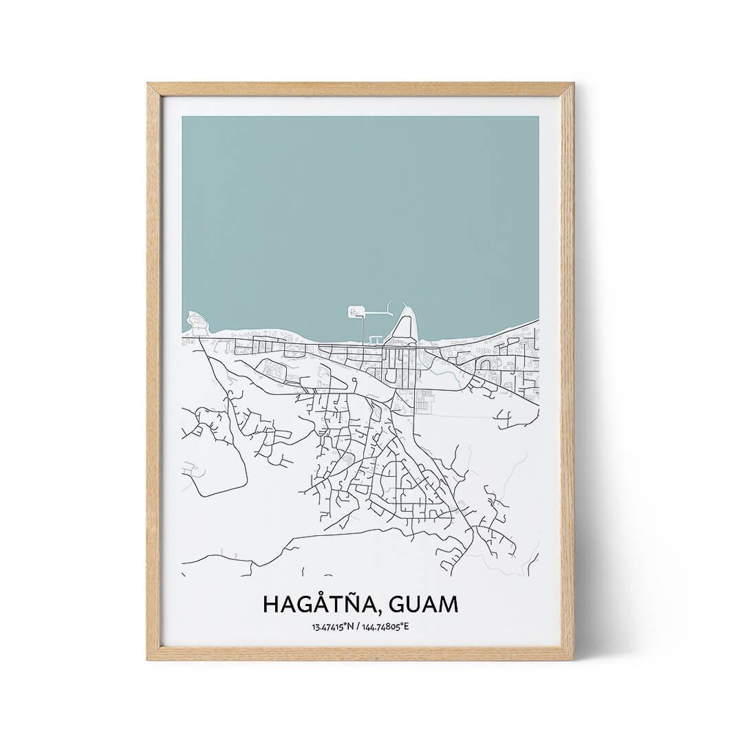 Hagatna city map poster