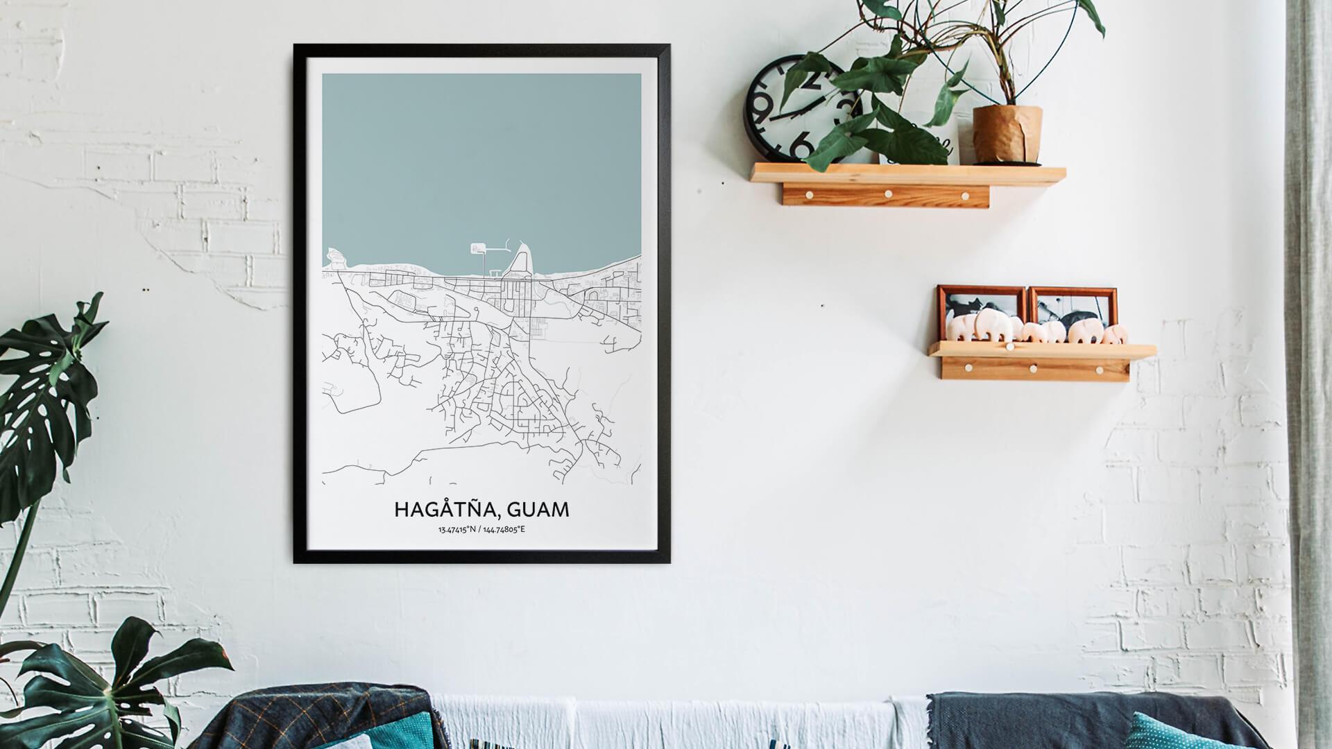 Hagatna map art