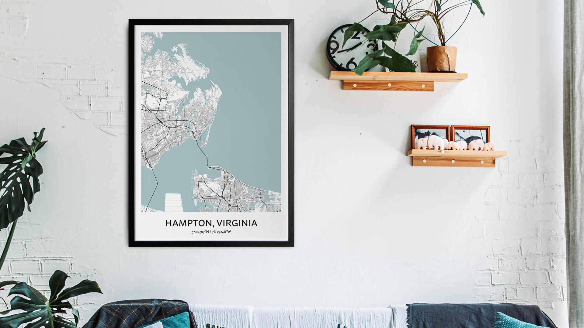 Hampton map art