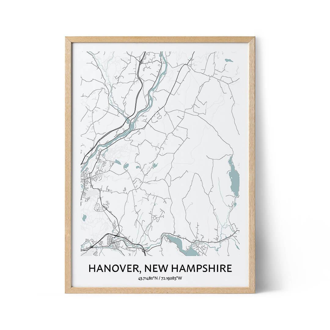 Hanover city map poster