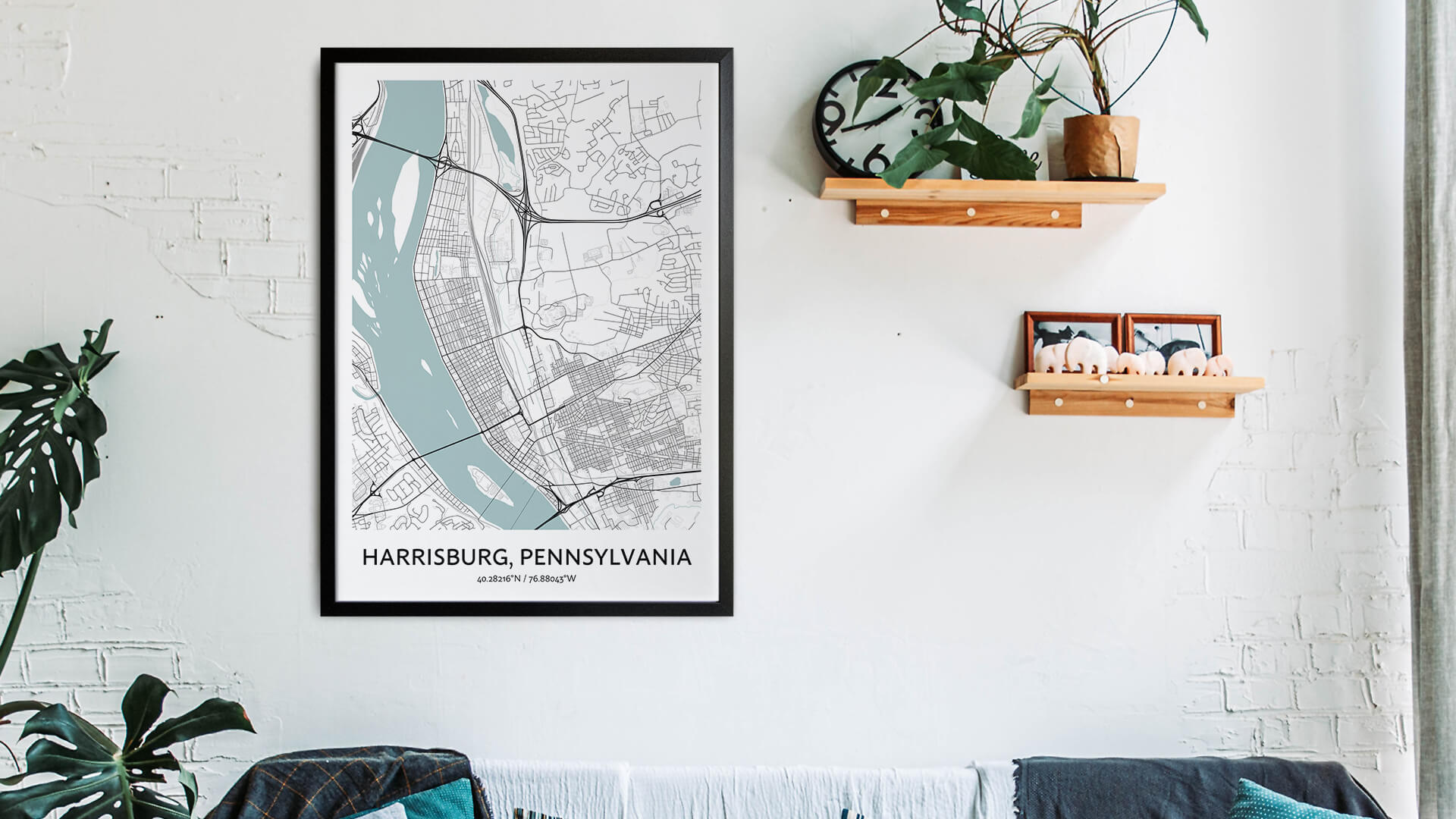 Harrisburg map art