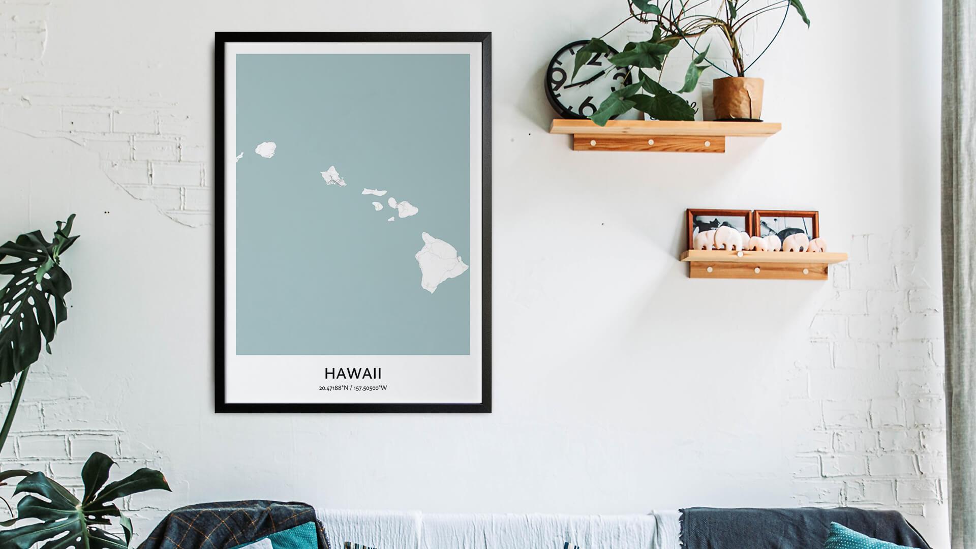 Hawaii map art