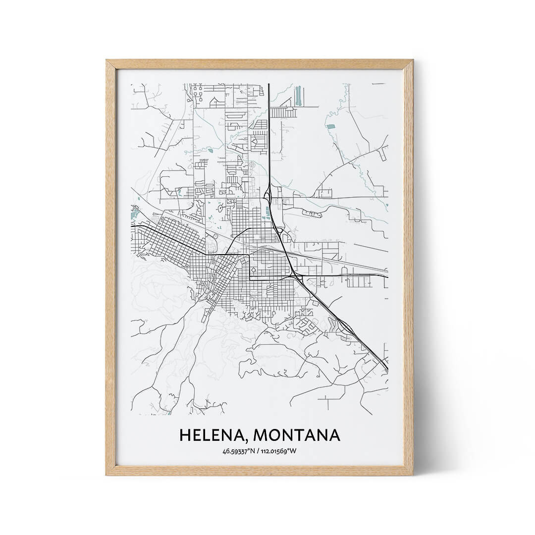 Helena city map poster