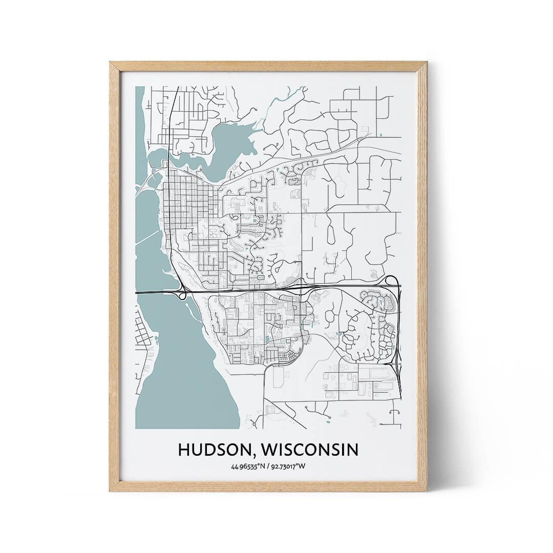Hudson city map poster