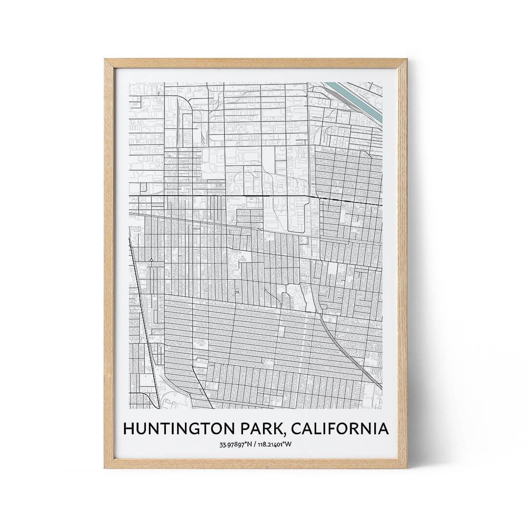 Huntington Park city map poster