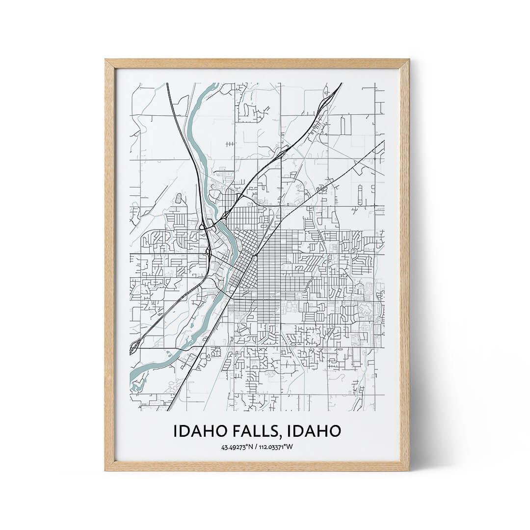 Idaho Falls city map poster
