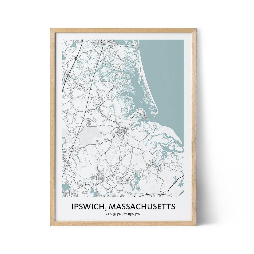 Ipswich city map poster