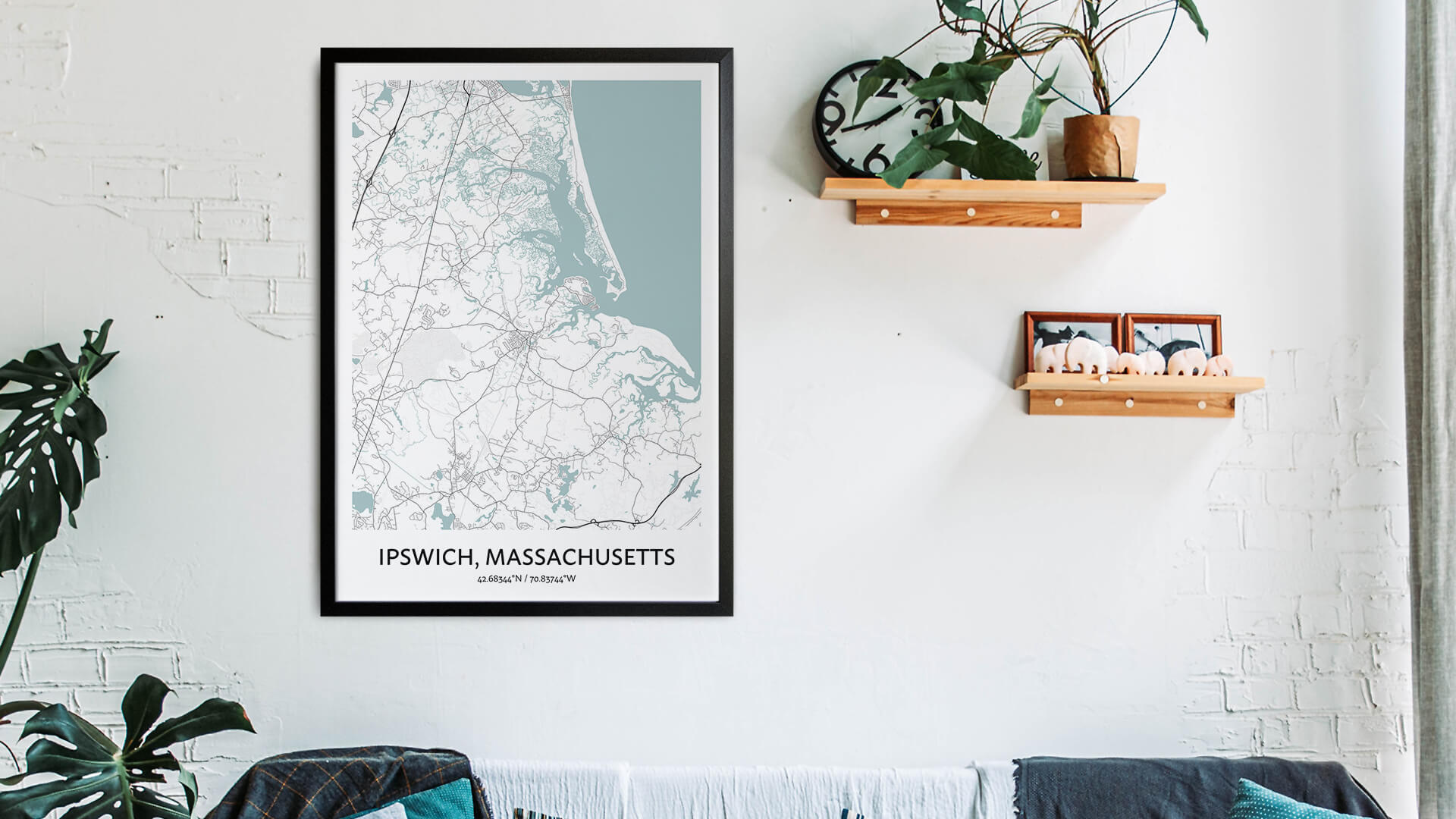 Ipswich map art