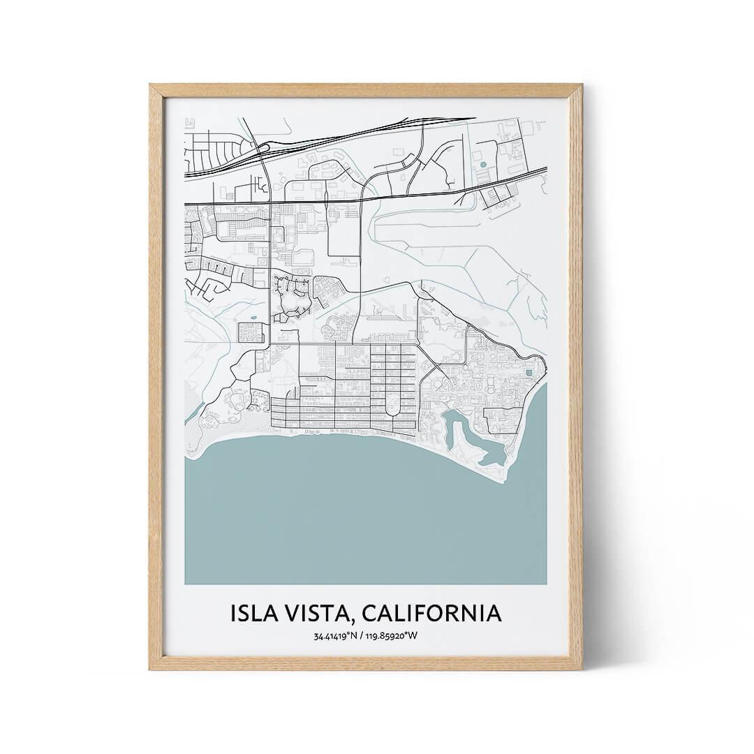 Isla Vista city map poster
