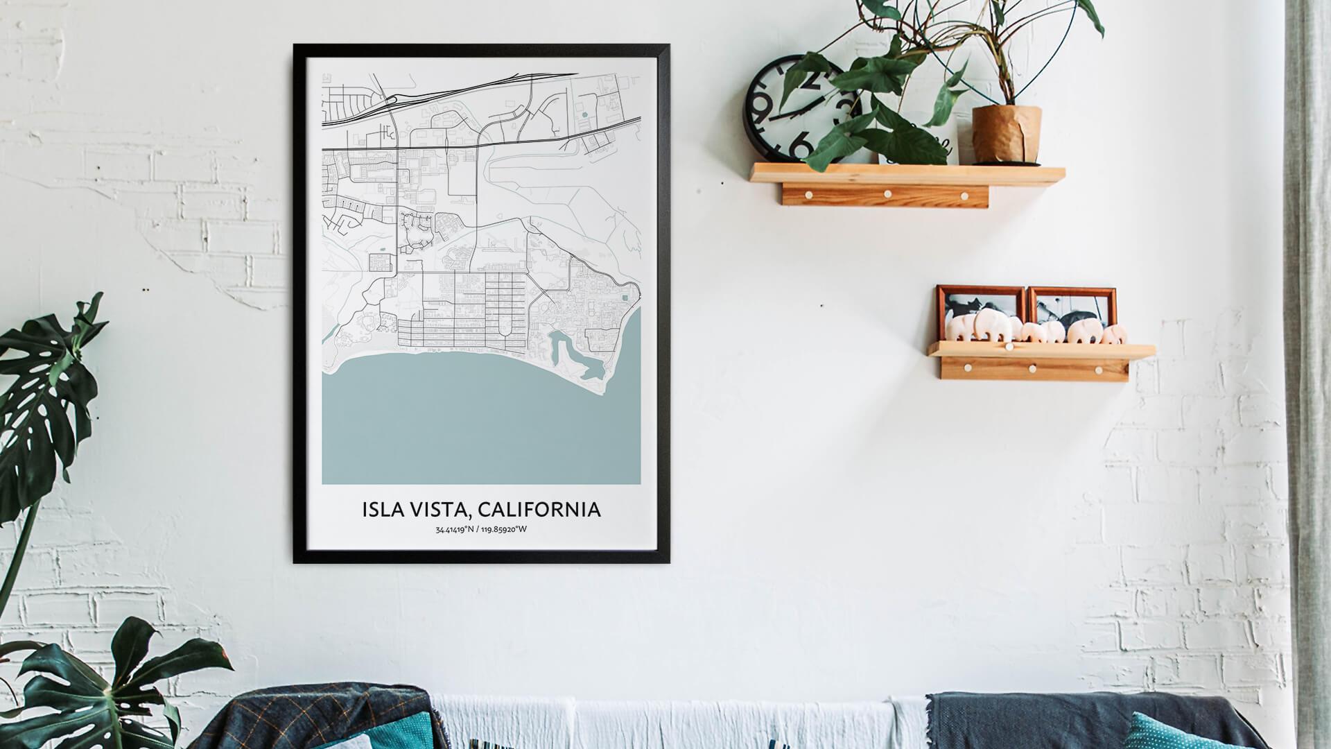 Isla Vista map art