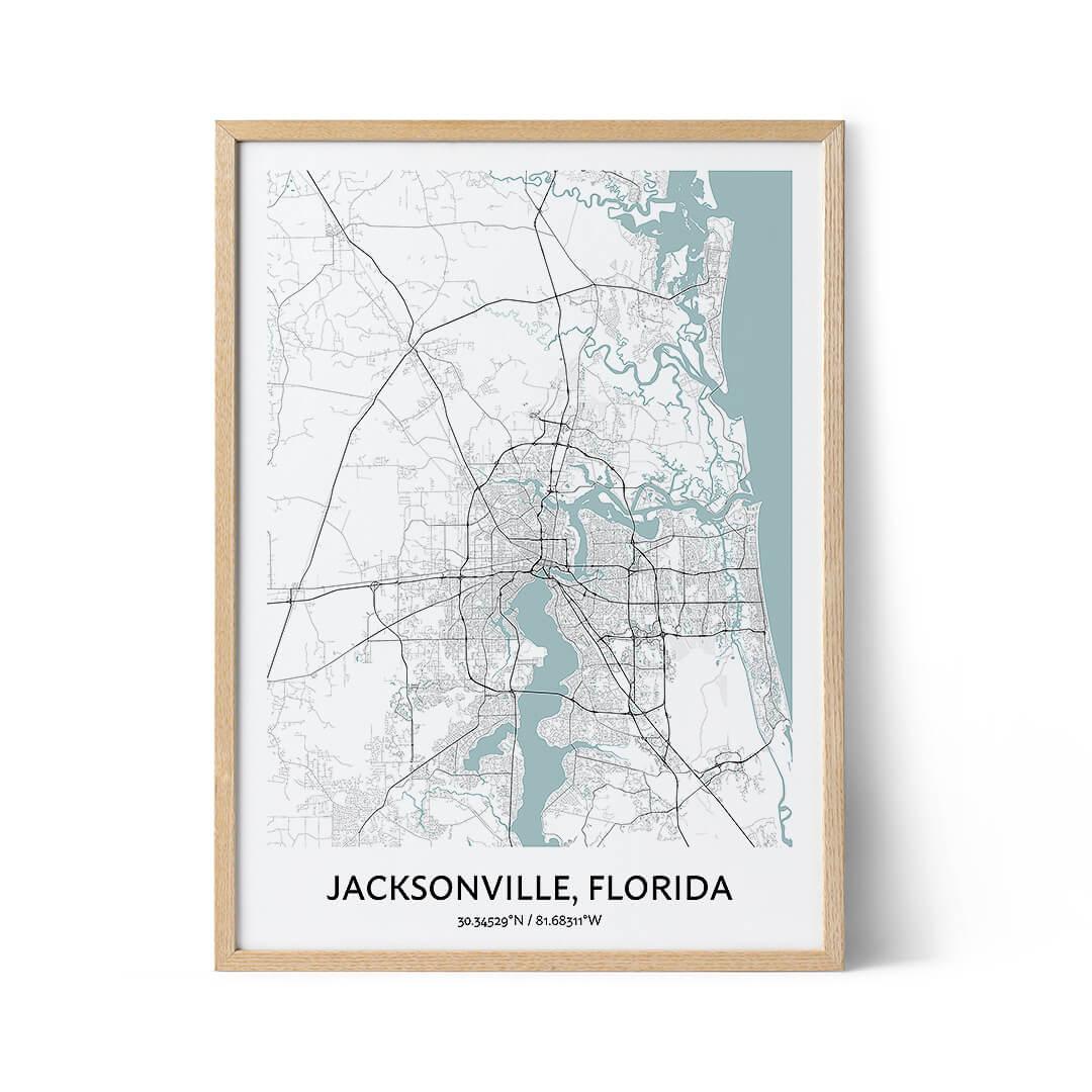 Jacksonville city map poster