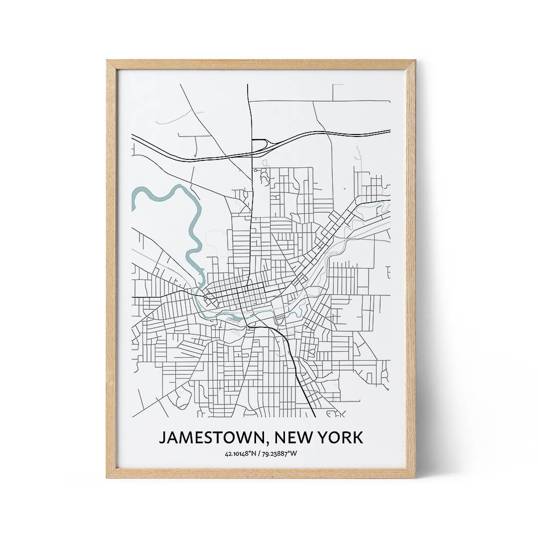 Jamestown city map poster