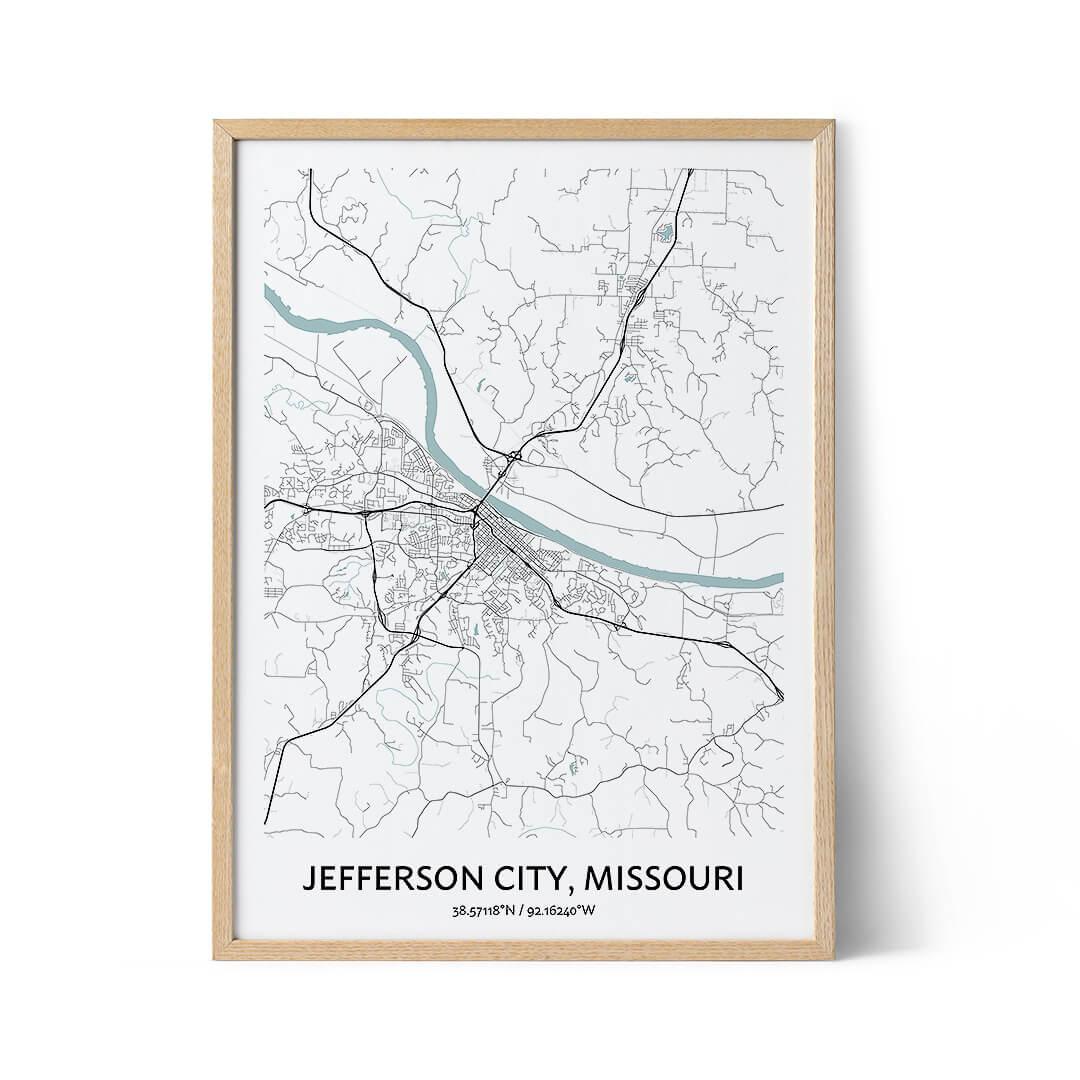 Jefferson City city map poster