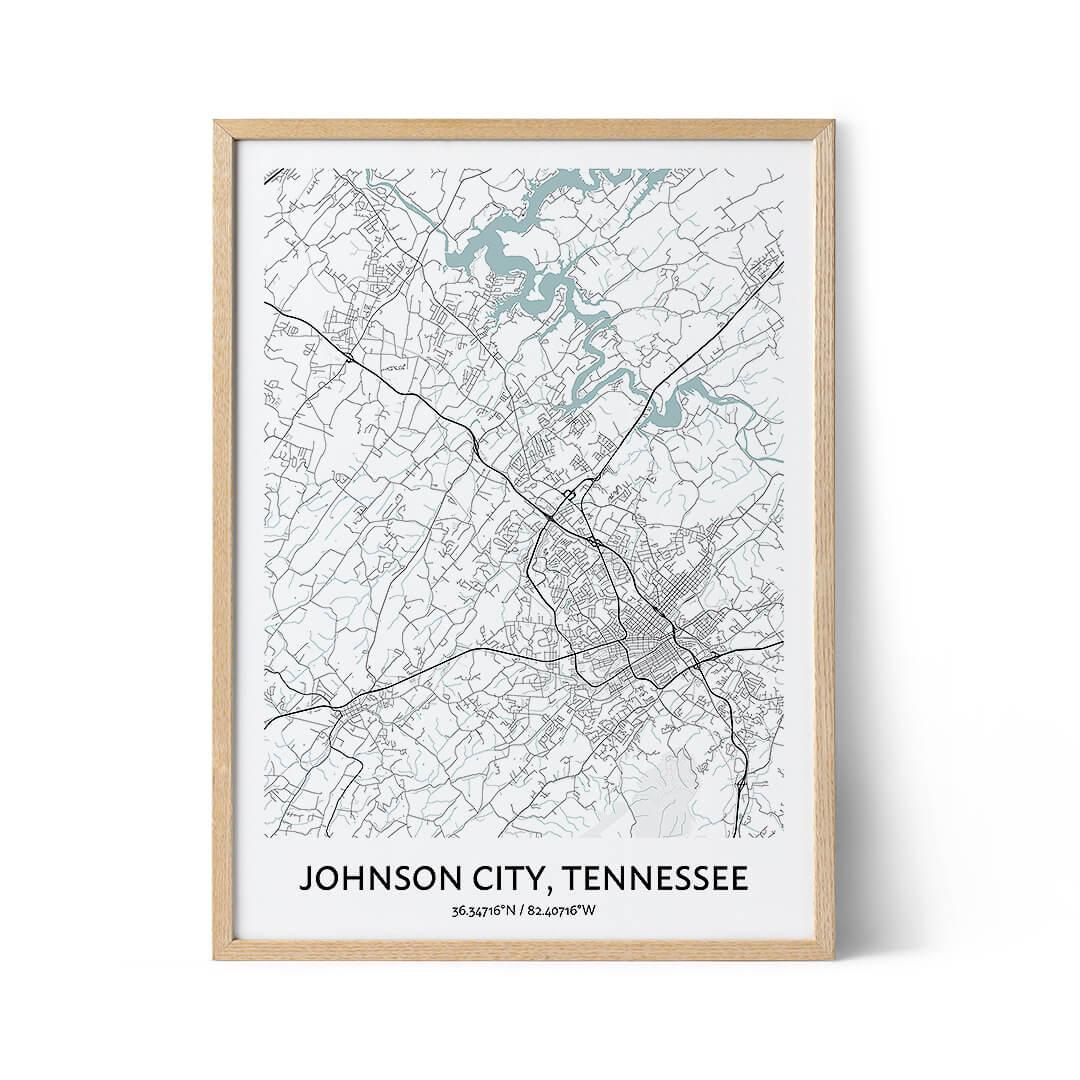 Johnson City city map poster