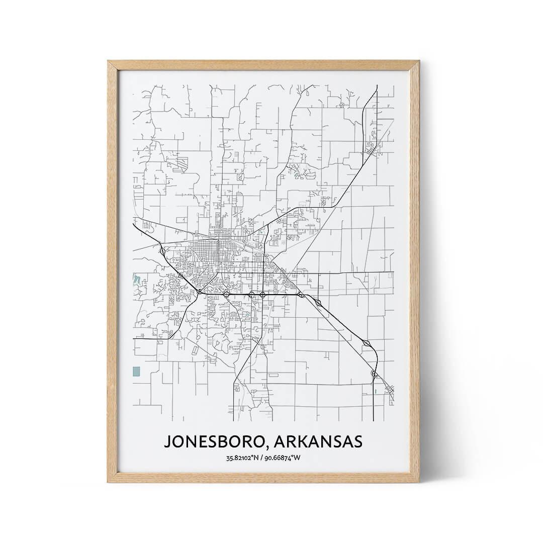 Jonesboro city map poster